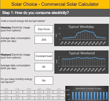 Solar Choice commercial solar free payback calculator