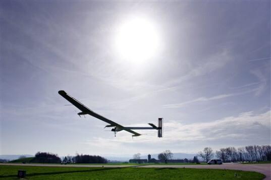 Solar Impulse--First flight (from Inhabitat.com)