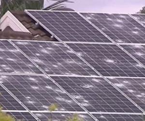 Solar panel hail damage