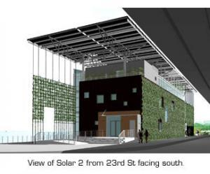 Mock-up of Solar 2, facing south--image from Solar 1 website