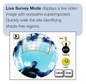 Solmetric Suneye Live survey mode