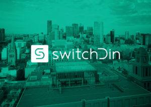 SwitchDin cityscape & logo