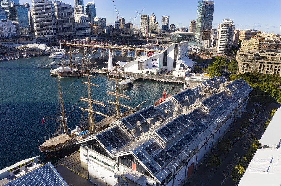Sydney Maritime Musuem commercial solar panel install eArche 235kW