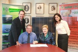 Sydney Mount Saint Benedict 100kW solar system signing
