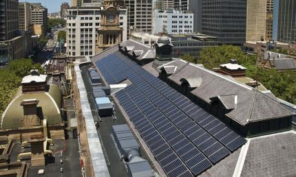Sydney Town Hall solar panel array uses Suntech Pluto technology