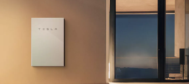 Tesla powerwall 2 solar battery installed on residential home in ACT