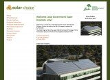 Solar choice Commercial Tender Management Platform screenshot