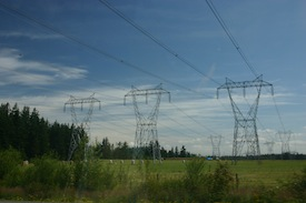 Three-phase electric power transmission and solar power