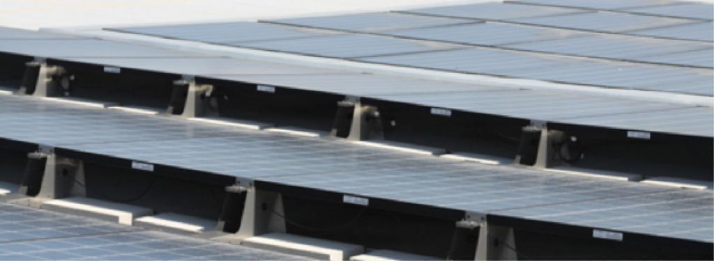 Tilted solar panels roof cooling