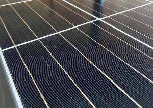 Tindo solar panel close up on 5 bus bar solar cell