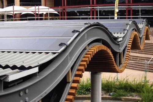 University of Wollongong solar BIPV installation