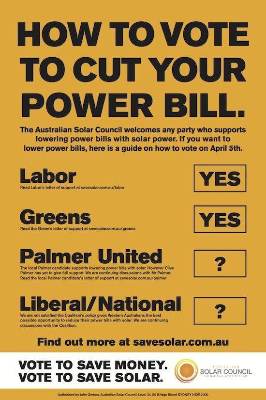 WA Aust Solar Council How to cut your power bills in WA
