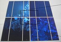 quasi-monocrystalline silicon solar panels