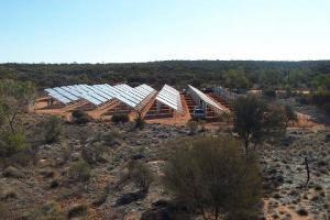 Remote solar power installation in Kings Canyon, near Alice Springs, NT