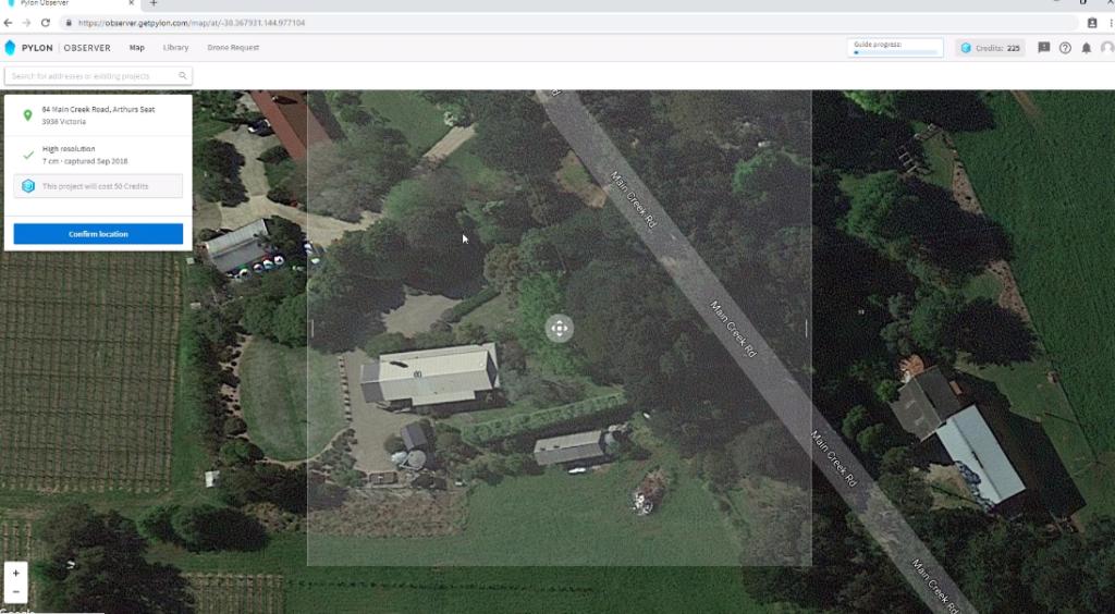 pylon house map