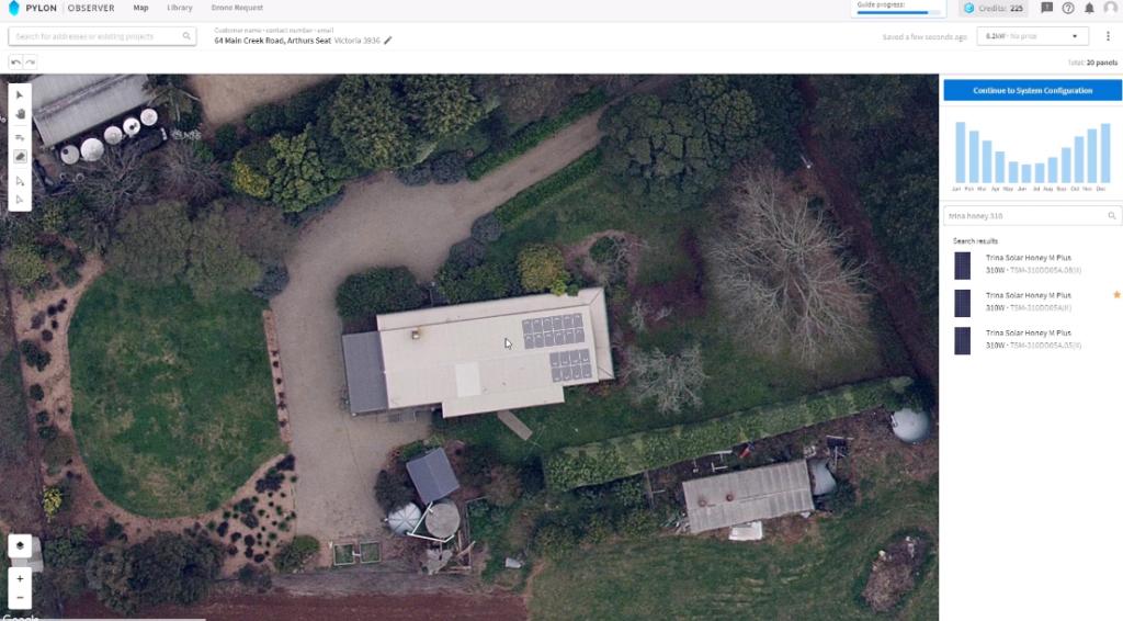 pylon map house