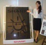 Sharp see through solar panels