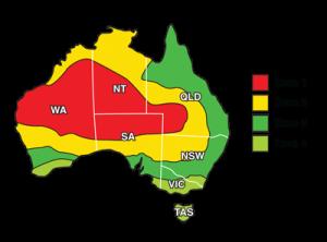 Solar PV REC zones in Australia