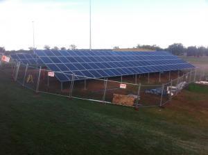 35kW polycrystalline solar module commercial solar power installation in Central West NSW. Installation brokered by Solar Choice Central West office.