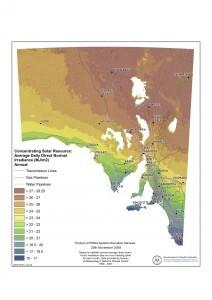 South Australia Solar Irradiance Resource (Image via South Australia Government)
