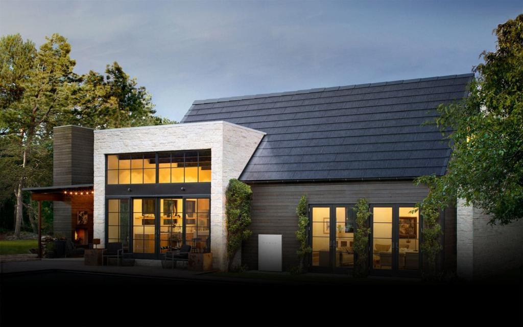 tesla solar roof home