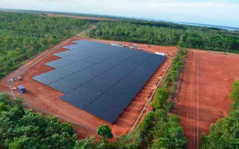 Solar farm at Rio Tinto Weipa mine